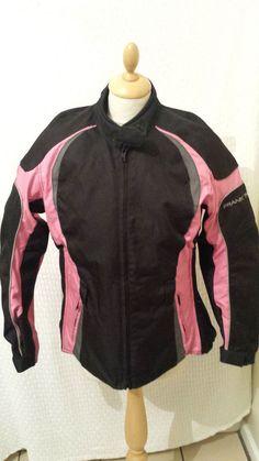 £19.99  UK  Frank Thomas motorbike sports  biker jacket size LS black pink