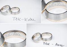 Grawerunek reczny na obrączkach ślubnych. Napis własnym charakterem pisma: oryginalny i pamiątkowy.  #wedding #ślub #obrączki #grawer #grawerowaniereczne #nietypoweobrączki #oryginalneobrączki