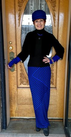Style Crone wearing skirt from Target