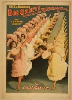 Rice and Barton's Big Gaiety Spectacular Extravaganza Co. Lithograph, c1900. Library of Congress Prints and Photographs Division