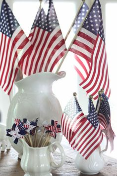 Easy 4th of July centerpiece!