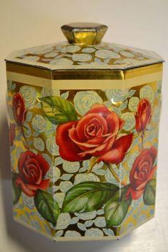 Vintage tea caddy tin