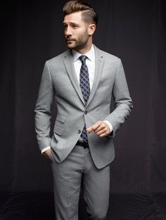 Light gray suiting