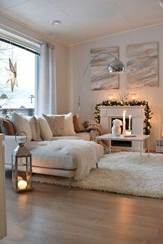 joulukuu 2017 – Loving White Style - Home Design Living Room Decor Cozy, Elegant Living Room, Home Living Room, Apartment Living, Interior Design Living Room, Living Room Designs, Deco Design, Living Room Inspiration, Wedding Decor