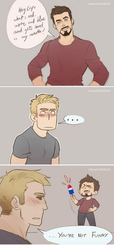 What are you thinking Steve? Stony Avengers, Superfamily Avengers, Stony Superfamily, Avengers Memes, Marvel Dc, Marvel Funny, Marvel Comics, Tony Stark Steve Rogers, Steve And Tony