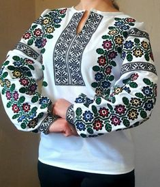 "#вишиванка ""Борщівська"" (Арт. 01042) African Fashion Dresses, Fashion Outfits, Womens Fashion, Polish Embroidery, Embroidery Suits Design, Crochet, Costume, Fabric, Pattern"