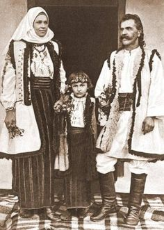 Various photographs depicting Romanian old folk costumes from late 19th Century and early 20th Century. THE VINTAGE THIMBLE
