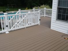 WOLF Capped Composite Decking in Willow and WOLF Railing