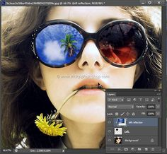create reflections in sunglasses