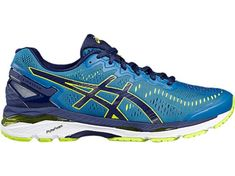 the best attitude 81d1d 1dd2b Asics Bleu Jaune Bleu Homme (T646n-4907) Pas Cher Gel Cushion, Custom