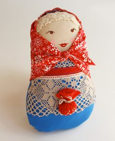 BUNIKAART Christmas Matryoshka Art Folk doll