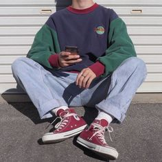 Cool Outfits For Men, Stylish Mens Outfits, Cute Casual Outfits, Casual Clothes, Indie Outfits, Retro Outfits, Vintage Outfits, Fashion Outfits, Skateboard Style