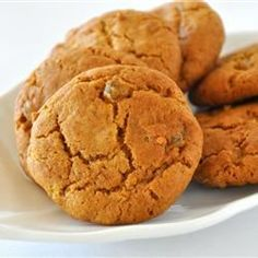 """""""These are a real pain in the butt to make, but they are worth it. The best ginger cookies I have ever eaten."""" Best Cookie Recipes here! Tiramisu Dessert, Cookie Desserts, Cookie Recipes, Dessert Recipes, Biscuit Recipes Uk, Biscuits, Ginger Snap Cookies, Christmas Baking, Christmas Treats"""