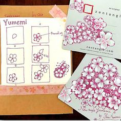 Zentangle Drawings, Doodles Zentangles, Zentangle Patterns, Tangled Images, Flowering Cherry Tree, Word Of Advice, Pattern Drawing, Art Forms, Cherry Blossom