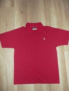 Rotes Poloshirt von Ralph Lauren Gr. L