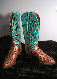 "The Lost Mermaid: These Boots are made for Walking!!: ""These Boots are made for fun!!! Custom hand painted Cowboy Boots"""