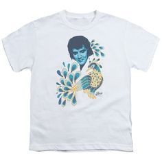 ELVIS PRESLEY PEACOCK Youth Short Sleeve T-Shirt