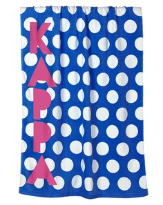 Kappa Kappa Gamma Polka Dot Beach Towel by Adam Block Design | Custom Greek Apparel & Sorority Clothes | www.adamblockdesign.com