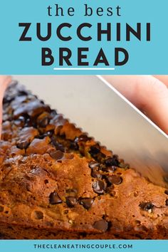 This Healthy Zucchini Bread Recipe is perfect for a simple snack or nutritious breakfast. Gluten free & low sugar, this easy clean eating recipe creates a moist bread, made even better with mini chocolate chips! #healthy #zucchini #bread #zucchinibread Best Zucchini Bread, Chocolate Chip Zucchini Bread, Zucchini Bread Recipes, Healthy Zucchini, Chocolate Chips, Healthy Bread Recipes, Easy Clean Eating Recipes, Fun Baking Recipes, Free Recipes