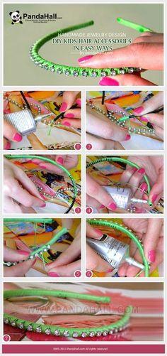 Jewelry Making Idea--How to Make DIY Kids Hair Accessories | PandaHall Beads Jewelry Blog