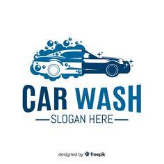 Logotipo de lavagem de carro liso azul V. Kid Car Wash, Blue Car Wash, Car Wash Posters, Logo Site, Car Wash Business, Car Wash Services, Mobile Car Wash, Banners, Car Iphone Wallpaper