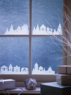 Eye For Design: Simple And Elegant White Christmas Decor