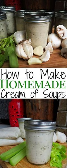 "Ran out of ""cream of"" soups and don't have time to run to the store? Make your own! Cream of chicken, cream of mushroom or cream of celery."