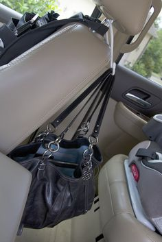 Organizing purses in closet, car office, closet rod, organisation, purse or Handbag Storage, Handbag Organization, Scrunchies, Organizing Purses In Closet, Car Accessories For Guys, Car Office, Closet Rod, Car Hacks, Car Cleaning