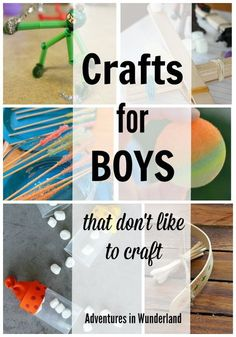 Fun crafts for boys! Even the ones that don't like to craft will love making these!