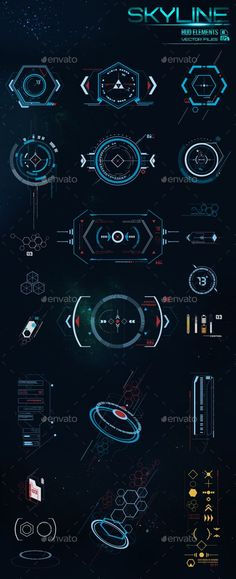 HUD Elements - Decorative Symbols Decorative This is such a good representation . HUD Elements - Decorative Symbols Decorative This is such a good representation of the future. These fine lines are Dashboard Design, Ui Ux Design, Game Design, Application Ui Design, Layout Design, Design Page, Logo Design, Dashboard Ui, Design Tech
