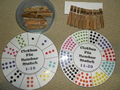 Fine motor, counting, and number matching