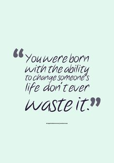 Motivational Quote: Don't waste it! Follow: https://www.pinterest.com/DAR_Centers/
