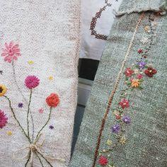 #Embroidery#stitch#needlework  #프랑스자수#일산프랑스자수#자수 #햄프린넨~~좋은느낌~~