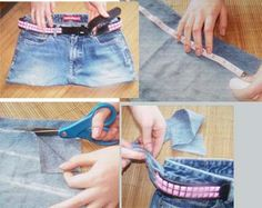 5 Steps to Make a Purse out of Jeans: Make a Handle