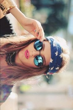 hippie. Glasses and the head piece are super cute and the head piece covers day old routes...