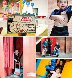 Coles-party-train-activities-temporary-tattoos-photobooth