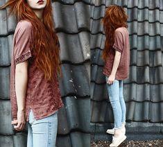 Secondhand Pretty Shirt, Stretch Denim Pants