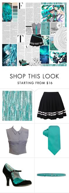 """""""Casual Cosplay: Miku Hatsune (Vocaloid)"""" by phaedra-solaris ❤ liked on Polyvore featuring Designers Guild, Nicki Minaj, Chanel, Vince Camuto, Ruby Shoo and M Missoni"""
