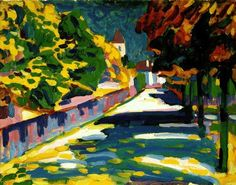 """Wassily Kandinsky """"Automne en Bavière"""", 1908, huile sur carton, 33 x 45cm"""