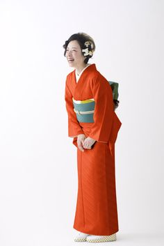 24+Colors【イロムジ】No.22 オレンジ | モダンアンテナ きもの通販