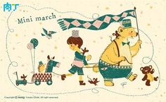 日本儿童插画师minty温暖人心的插画作品创意作品╭★肉丁网
