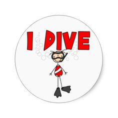 Girl I Dive Sticker