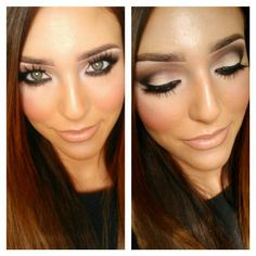 Defined brown smokey eye #makeup someone teach me how to do this and make it stay with my super oily skin!