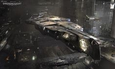 Dreadnought: Hangar concept - by Yuriy Mazurkin More selected content for Dreadnought on my tumblr [here]