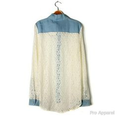 stylish clothing for women over 50 | Blouses Lace Fashion 2013 Spring Summer Women Clothing News Woman 2013