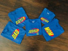 Personalized family shirts for Nerf Wars Party Laser Tag Birthday, Laser Tag Party, Happy 7th Birthday, Backyard Birthday, Nerf Party, 5th Birthday Party Ideas, Kids Party Themes, Boy Birthday, Dad To Be Shirts