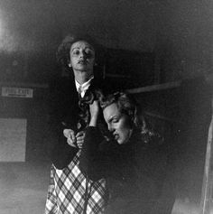 1948. Marilyn Monroe and his coach Professor Natasha Lytess in November of 1948 in a drama class - Photos taken by JR Eyerman.