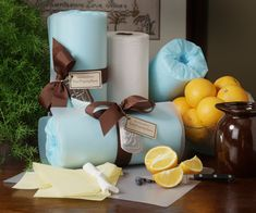 easy diy new move in gifts tissue paper, ribbon, plunger & toilet