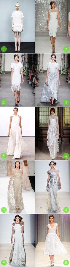 Top 10: Wedding dress inspiration from Fashion Week