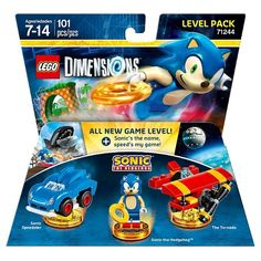 LEGO, DIMENSIONS LEVEL PACK: SONIC THE HEDGEHOG/SONIC (71244)